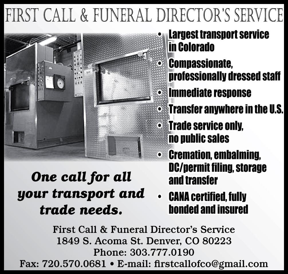 First Call and Funeral Directores Service